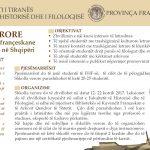"""Shkolla verore """"Trashëgimia kulturore françeskane dhe tradita e latinistikës në Shqipëri"""" – 12-22 Korrik 2017"""