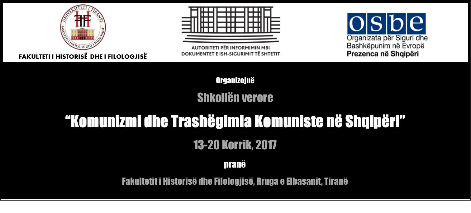 """Shkolla verore """"Komunizmi dhe Trashëgimia Komuniste në Shqipëri"""""""
