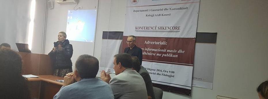 Konferencë Shkencore e Departamentit të Gazetarisë